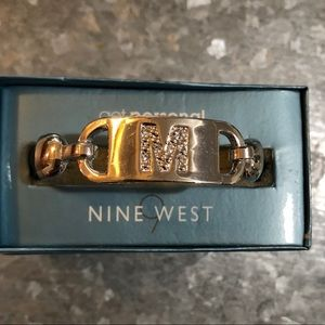 "Nine West Monogram Initial ""M"" Bracelet."